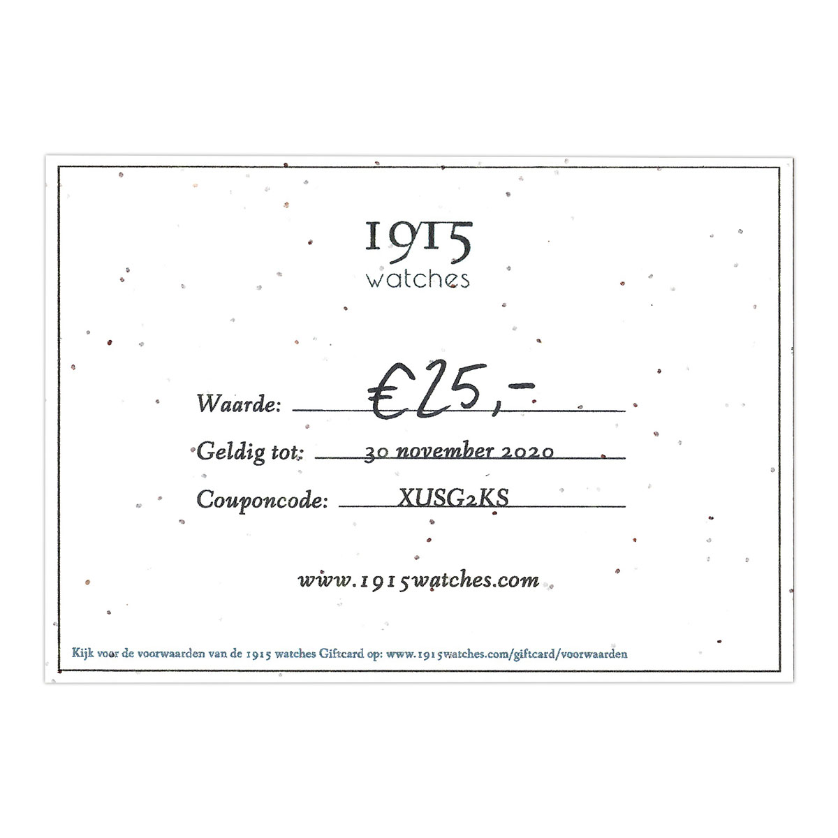 1915 watches - 1915 watches houten horloge giftcard