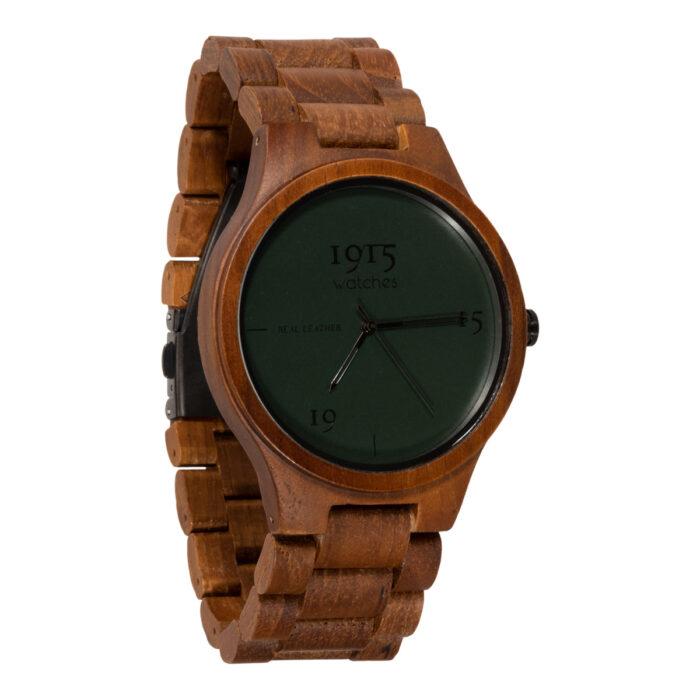 1915 watches - 1915 watch men real leather cognac houten horloge